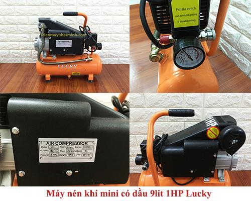 Máy nén khí mini có dầu Lucky 9lit chính hãng