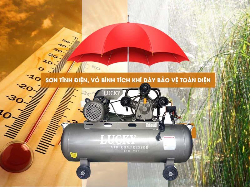 Máy nén khí Lucky piston 150 lít 4hp chất liệu cao cấp, chống rò khí