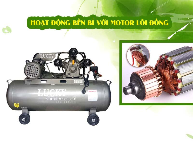 Máy nén khí Lucky piston 150 lít 4hp khả năng vận hành tần suất cao