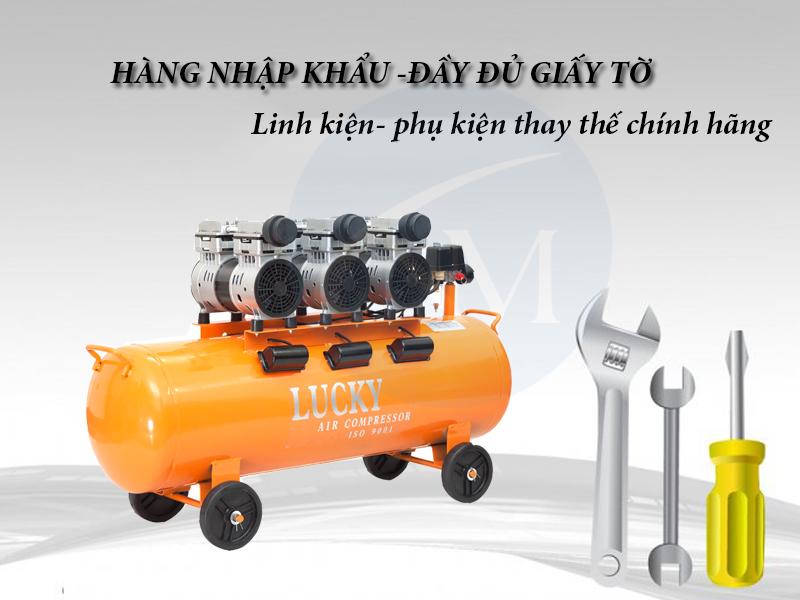 Máy nén khí không dầu 150 lít 6Hp Lucky H6 hàng chính hãng giá tốt nhất